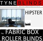 The FABRIC BOX - HIPSTER made to measure ROLLER BLINDS - straight edge patterned
