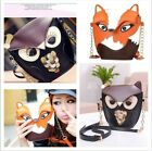 Women Girl Retro Owl Fox Satchel Messenger Handbag Cross Body Shoulder Bags W