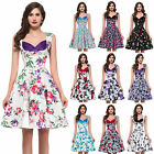 CHEAP~ Vintage Style Rockabilly Swing 50's 60's pinup Housewife Prom Party Dress