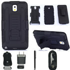 Hybrid Armor Holster Heavy duty  Belt Clip Case For Samsung Galaxy Note 3+ GIFT