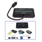 3 in 1 OTG On The Go Host Cable + Micro SD TF Card Reader Adapter for HTC Phone