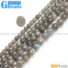 "Round Faceted Labradorite Beads Strand 15"" Jewelery Making Selectable Size"