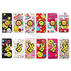 Colorful Smile Flip Faux Leather Cartoon Purse Case Cover Skin For Samsung #B2