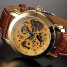 Outlet Automatic Mechanical Mens 3 Colours Dial Skeleton Limited Wrist Watch