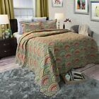 3 Piece Quilted Blanket Comforter Bed Spread Color Choice Full/Queen 86 x 86 image