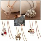 New Fashion Silver Gold Hollow Animal Long Necklace Pendant Women Sweater Chain