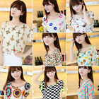 Korean Womens Casual Short Sleeve Loose Summer Chiffon T-shirt Tops Shirt Blouse