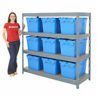 Garage Shelving With Boxes Kits 4 Level Bay Storage Pick Bins Box Deals BiGDUG
