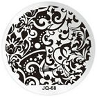 Women JQ Style Nail Art Polish Printing Template Round Stainless Steel Plate