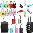 3 Dial Metal Resettable Combination Padlock Suitcase Luggage Password Digit Lock