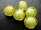 16/20mm YELLOW CLEAR FACETED ROUND ACRYLIC BEAD IN BEAD CC4545