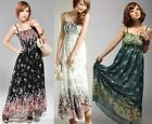 Summer New Women Bohemian Beach Dress Strap Contraction Floral Dress LA CA A