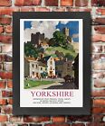 TU10 Vintage Yorkshire Richmond Railway Travel Framed Poster Re-Print A3/A4