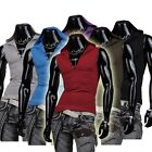 Jeansian Mens T-Shirts Vest Tank Top Hooded Sport Gym Slim 11 Colors 4 Size 8362
