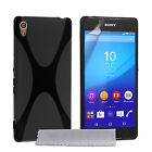 Yousave Accessories Sony Xperia Z3+ Plus X-line Silicone Gel Phone Case Cover UK