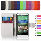 New Leatehr Flip Book Wallet Case Cover For HTC Desire 510 Free Screen Protector