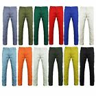 MENS CHINO JEANS SLIM REGULAR FIT PANTS TROUSERS STRAIGHT LEG COLOURED PANTS NEW