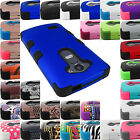 FOR LG PHONE MODELS HEAVY DUTY TUFF ARMOR CASE PROTECTIVE COVER+STYLUS