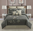 14 Piece Catalunia Charcoal/Taupe Bed in a Bag Set
