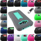 FOR SAMSUNG GALAXY PHONE MODELS RUGGED IMPACT KICKSTAND CASE ARMOR COVER+STYLUS