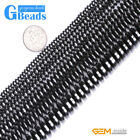 Roundel/Rondelle Gemstone Black Hematite Jewelry Making Loose Beads Strand 15""