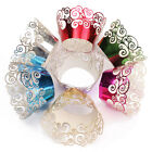 24Pcs Filigree Vine Cupcake Wrappers Wraps Cases Wedding Birthday Party Decor