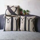 New1 PC  Linen Square Throw Pillow Cases Waist Home Office Decor Cushion Cover