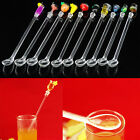 1/5/10 Pcs Vintage Plastic Swizzle Stir Stick Cocktail Drink Stirrers Party Bar