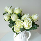 1X10 Head Real Touch Rose Artificial Fake Silk Flower Wedding Home Bouquet Decor