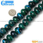 Roundel/Rondelle Gemstone Chrysocolla Jewelry Making Stone Beads Strand 15""