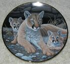 MOUNTAIN LION & 2 BABIES Limited Edition National Wildlife Fed. Franklin Mint