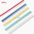 10pcs Blue/Red/Yellow/Green/White 40Pin 1x40P Male 2.54mm Breakable Pin Header