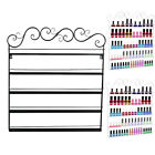 Iron Frame Nail Polish Wall Rack Shelf Display Fit Up To 95-Bottles 2Color