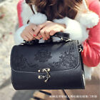 Women Retro Vintage Style PU Leather Handbag Tote Shoulder Bag Black/Brown Color