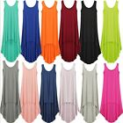 Lady Sundress Calf Length Dresses Long Vest Womens Cotton Stretchy Casual Dress