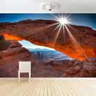 XXL Photo Wall Paper Mesa Arch Tattoo Sticker Living Room Wandtatoo Blumedeko