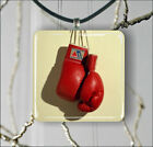 SPORT BXING RED GLOVES PENDANTS NECKLACE OR EARRINGS -j2f5