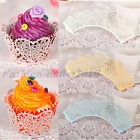 60X Hot Chic Wedding Birthday Heart Vine Cake Decor Wrapper Wraps Cupcake Cases