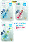 Mam 0+ Months Clip Cover Soother Saver Teat Cover Fits all soothers