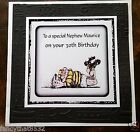 Handmade Personalised Birthday Card Rugby Brother Son Father Grandad ANY AGE