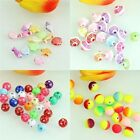 18 Colors Assorted Resin Square Round Spacer Colourful Loose Beads 6-20mm New