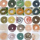 5-9mm Cultured Freshwater Round Luster Pearl Loose Ball Bead Finding Jewelry DIY