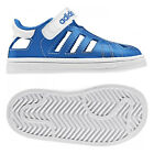 New Infants Boys Adidas Superstar CF Velcro Enclosed Sandals White Blue Shoes