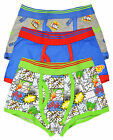 Boys Trunk Fit Boxers Comic Print 3 Pack Shorts Kids Underwear New Ages 2-13