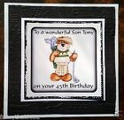 Handmade Personalised Birthday Card Golf Son in Law Grandfather Brother ANY AGE
