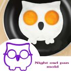 Egg Fried Silicone Side Up Owl/Skull Mould Breakfast Silicone Funny