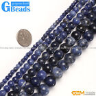 "Natural Stone Sodalite Jasper Round Beads Free Shipping 15"" 4mm 6mm 8mm 10mm"