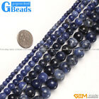 Natural Stone Sodalite Jasper Round Beads For Jewelry Making Free Shipping 15""