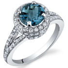 Majestic Sensation 1.50 cts London Blue Topaz Ring Sterling Silver Size 5 to 9