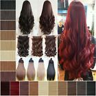 5 Clips One Piece Clip In Hair Extensions Long Black Brown Blonde Best selling